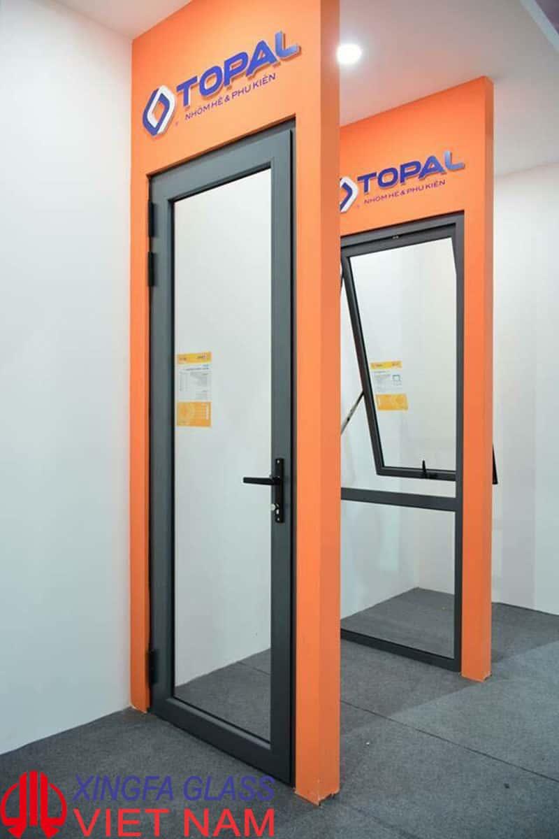Cửa đi mở quay nhôm TOPAL