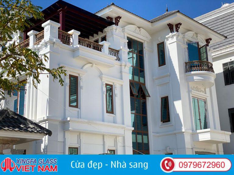 Công Trình Cửa Nhôm Xingfa Vân Gỗ Tại TP Vinh Nghệ An
