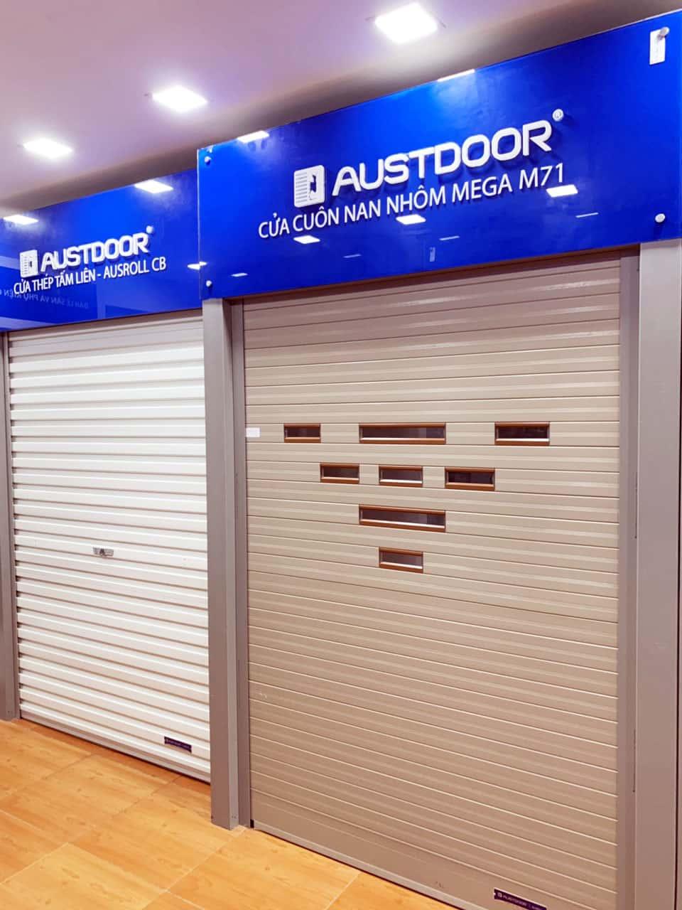 Cửa cuốn austdoor M70 tại showroom bách việt