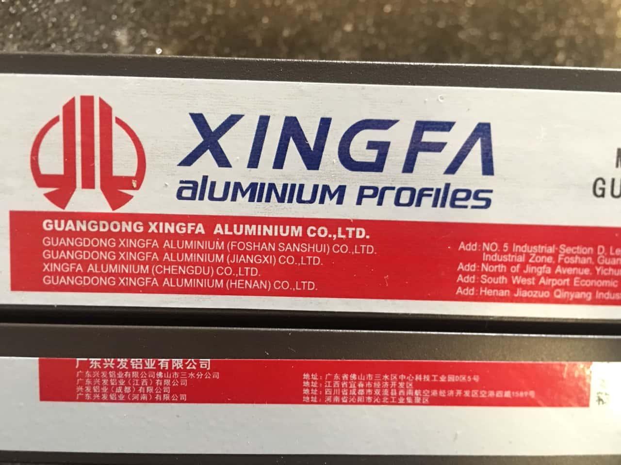 Xingfa Glass chỉ sử dụng Proflie nhôm Xingfa Nhập khẩu chính hãng.Đây là mãu tem mới nhất đang sử dụng hiện nay