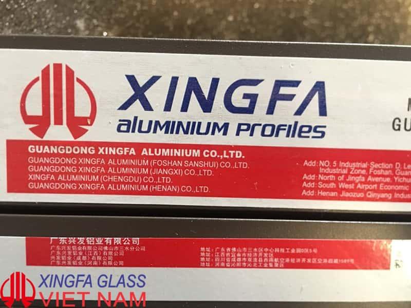 Xingfa Glass chỉ sử dụng Profile nhôm XINGFA nhập khẩu chính hãng