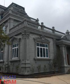 Biệt thự tân cổ điển cao cấp nhà Mr Thủy TP Hòa Bình sử dụng cửa nhôm Xingfa nhập khẩu màu trắng sứ